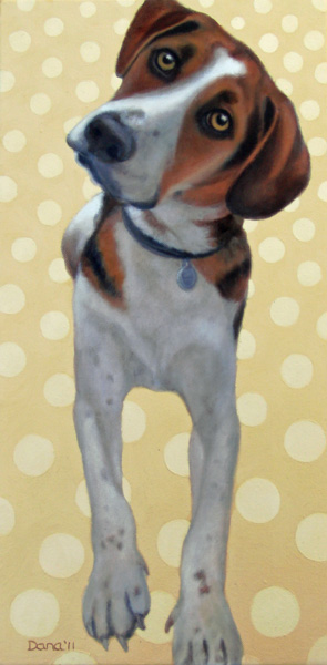 """Dots and Daisy"", oil by Dana Feagin, framed, $825"