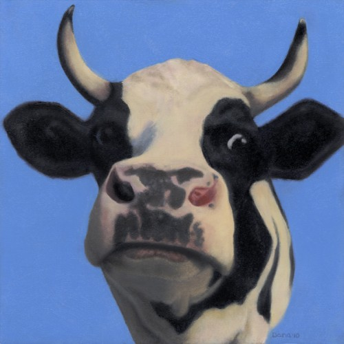 """Ferdinand"", 12 x 12 oil by Dana Feagin, Sold"