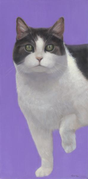 """""""Pearl on Lavender"""", 24 x 12 oil by Dana Feagin, framed, $950"""