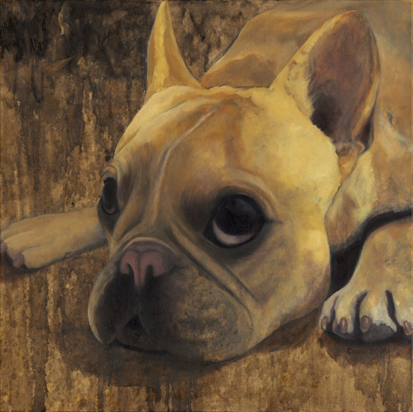 """Tinkerbelle"", 24 x 24 oil by Dana Feagin, framed, $1250"