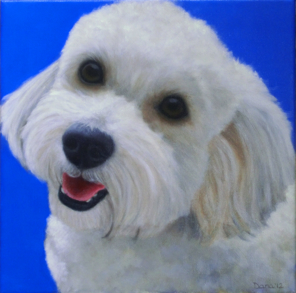 """Daisy"", 8 x 8 oil by Dana Feagin, Commission"
